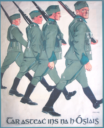 Recruitment poster c. 1935 by the artist Seán Keating