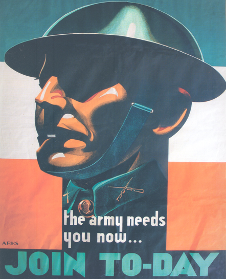Recruitment poster - Emergency Period c. 1941 by the artist Jack MacManus